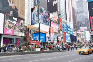 NYC Times Square digital billboard advertising